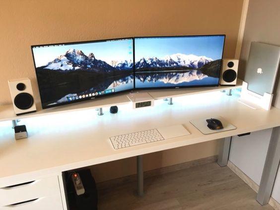 ejemplo de escritorio sin cables