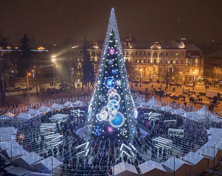 Vilnius Ciudades Europeas Con Mas Luces En Navidad
