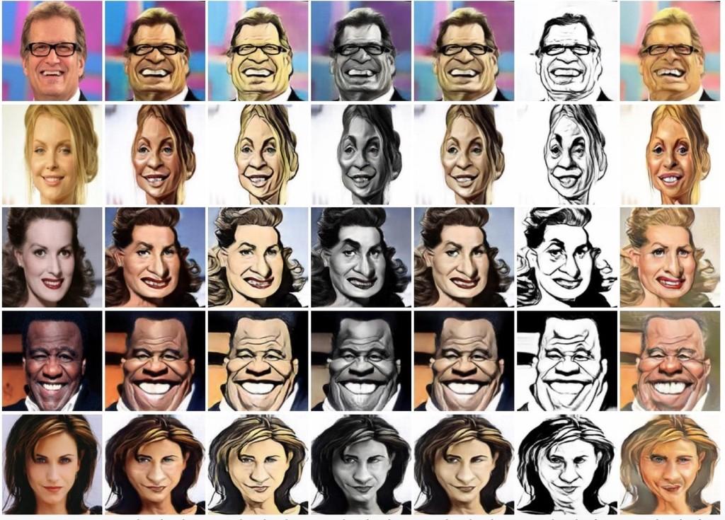 Aunque lo parezcan, estas caricaturas no son de ningún artista: las genera una IA de Microsoft