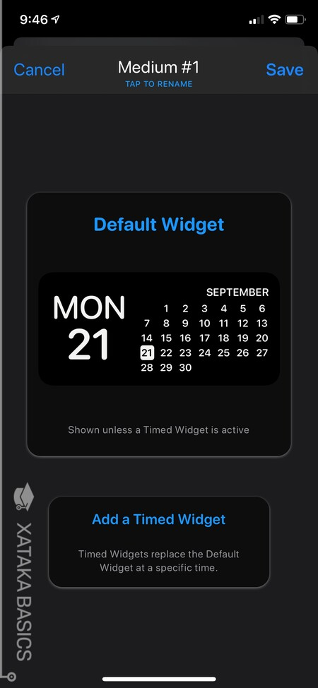 Widget template preview