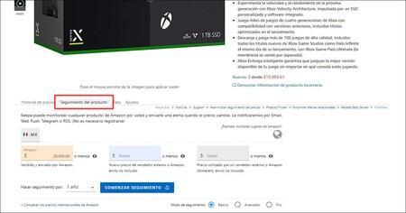 Conseguir Xbox Series X y PlayStation 5 de oferta con Keepa en México