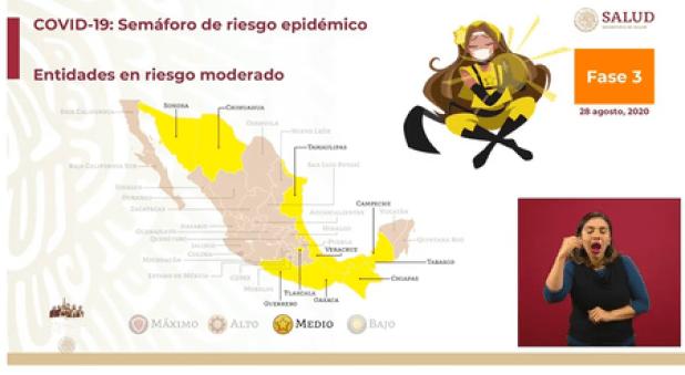 Casi todo México abandona el semáforo rojo en COVID: 10 estados a color  amarillo, 21 a naranja y solo Colima queda en rojo