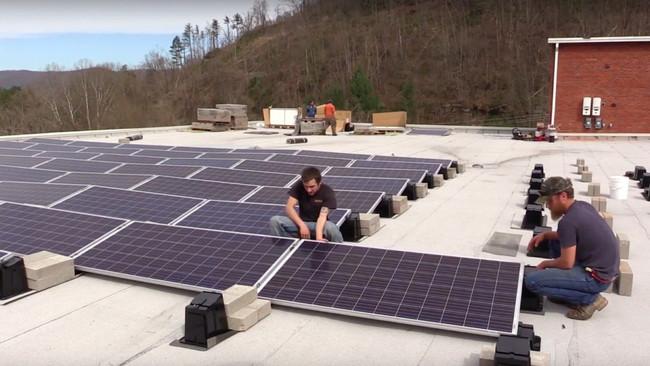 Solar Installation Coal Museum