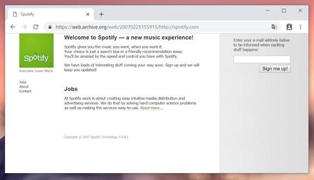 Spotify Wev 2007
