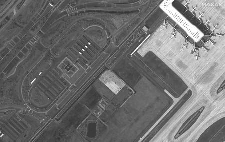 Satelite Aerupuerto Wuhan Maxar