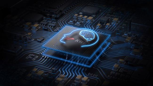 Imagen de un chip Kirin de Huawei