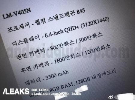 Lg V40 Thinq Specs Slash Leaks