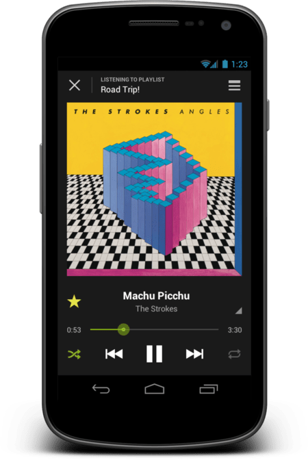 Spotify Android® Nowplaying Large On Device 1339450154