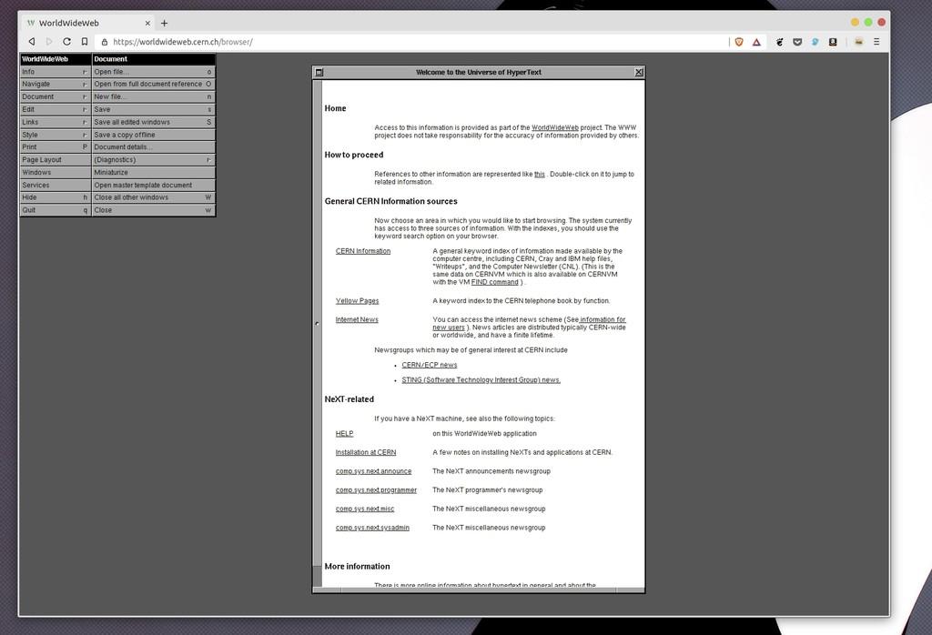 Permalink to Navega por la web como hace 30 años con una edición especial de WorldWideWeb del CERN, el primer navegador web de la historia
