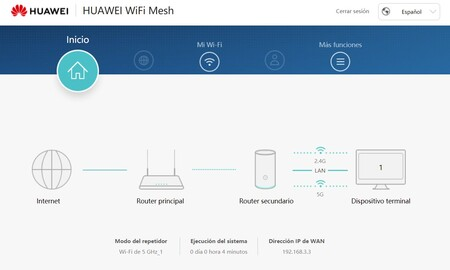 Router Wifi Huawei Interfaz Web
