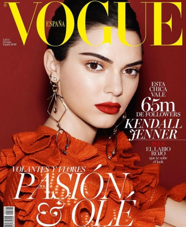 Vogue Espana October 2016 Kendall Jenner By Miguel Reveriego