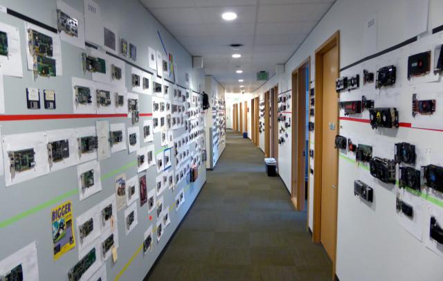 Este pasillo de las oficinas de Microsoft es un peculiar