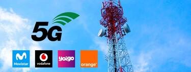 Así avanza el 5G en España: extensa cobertura en Movistar, Orange℗ y Yoigo, pero más rápido en Vodafone