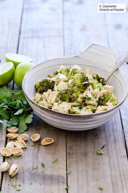 Asian Tofu Rice and Broccoli Salad