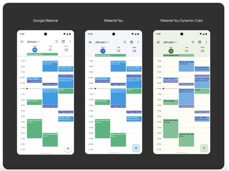Google Calendar Material You