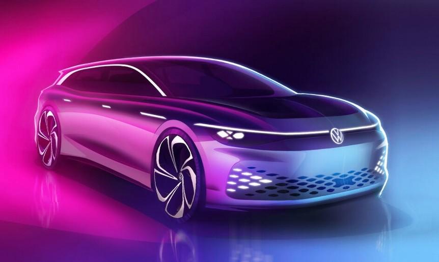Volkswagen prepara su station wagon eléctrico, el ID Space Vizzion, y promete 590 km de autonomía (WLTP) para finales de 2021