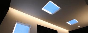 Mitsubishi ha construido unas ventanas falsas a base de LEDs para imitar la luz del Sol