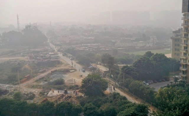 Smog As Visible In The Gurgaon Area Near Delhi On Nov 2016