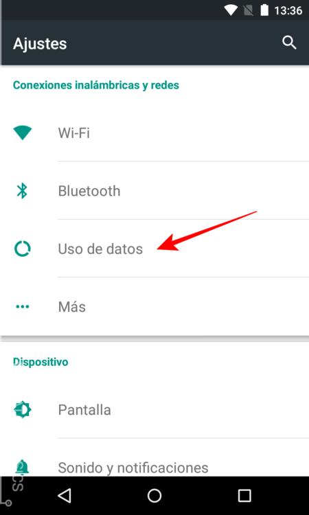 Pulsa Sobre Uso De Datos
