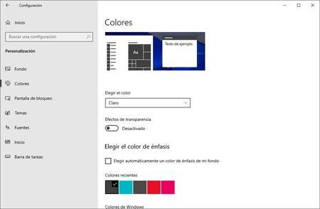Personalizacion Windows 10
