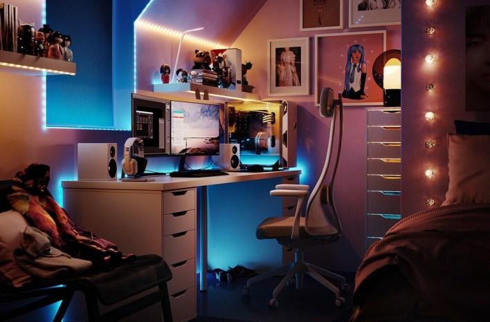 IKEA lanza UPPSPEL, una colección de muebles gaming  con sillas, mesas para trabajar de pie e incluso cojines relajantes