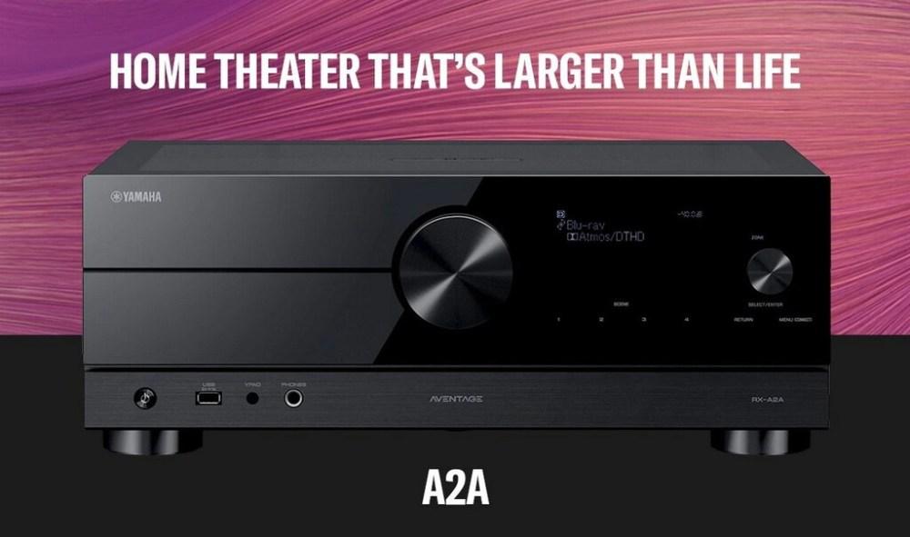 Yamaha anuncia el AVENTAGE RX-A2A, su nuevo receptor AV para cine en casa de 7.2 canales con HDMI 2.1