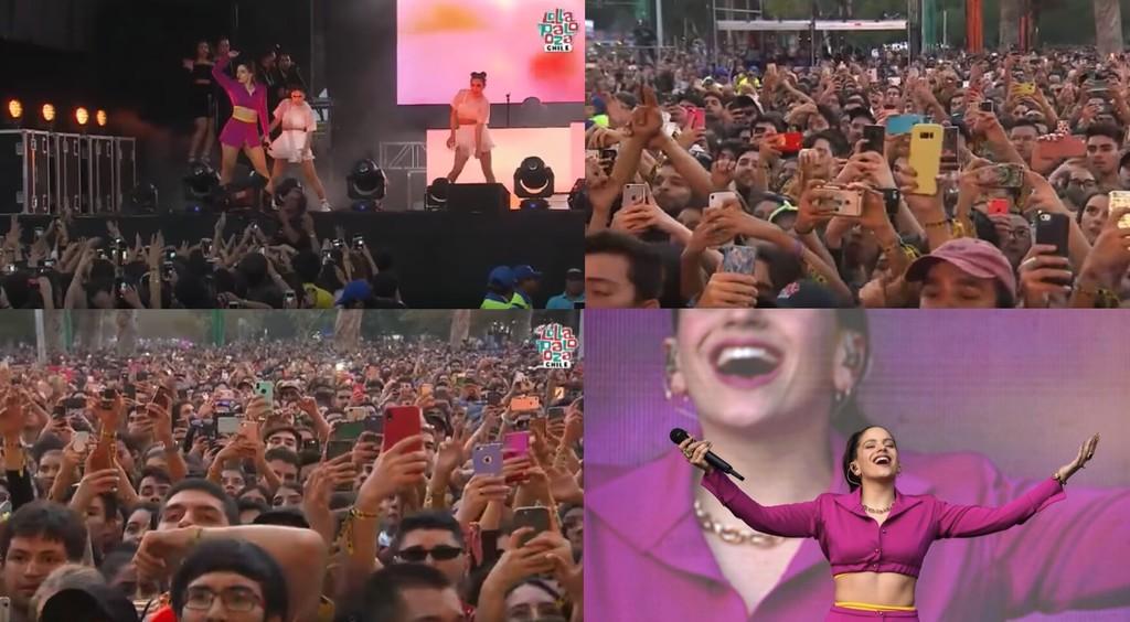 Permalink to Rosalía actuando frente a miles de smartphones es el futuro de la música en directo enseñándonos a disfrutar de un concierto hoy