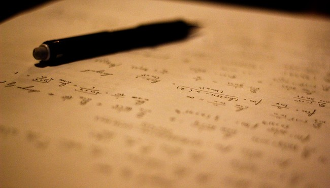Math Writing Calculus Pen Cursive Journal Symbol 104091
