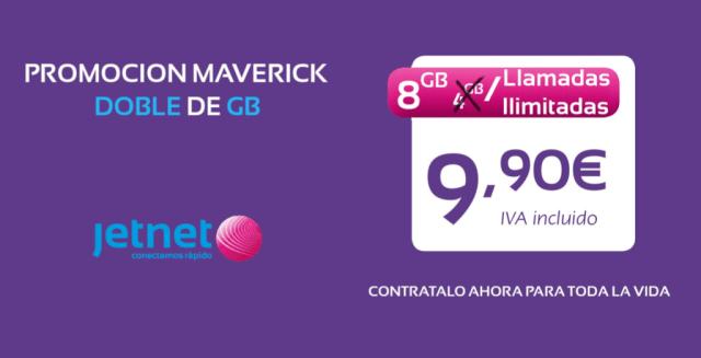 Jetnet sube la apuesta: llamadas ilimitadas y 8(ocho) GB por 9,90 euros
