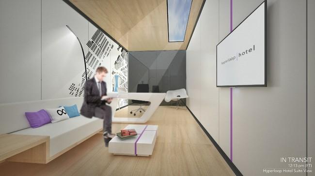 Permalink to 'Hotel Hyperloop', la idea de crear una habitación de lujo en la que viajar por varias ciudades en un día