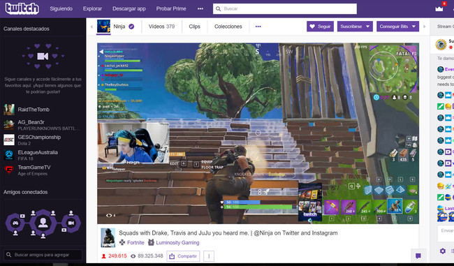 Streaming Fortnite Record Espectadores Twitch