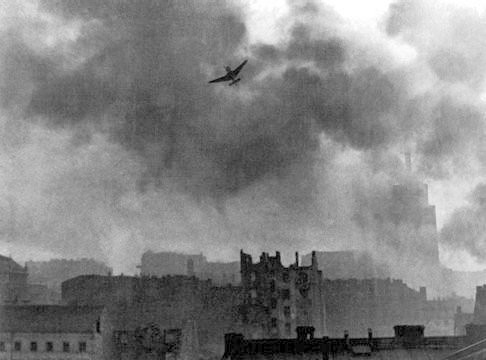 Warsaw Uprising Stuka Ju 87 Bombing Old Town