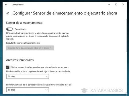 Config Sensor Almacenamiento