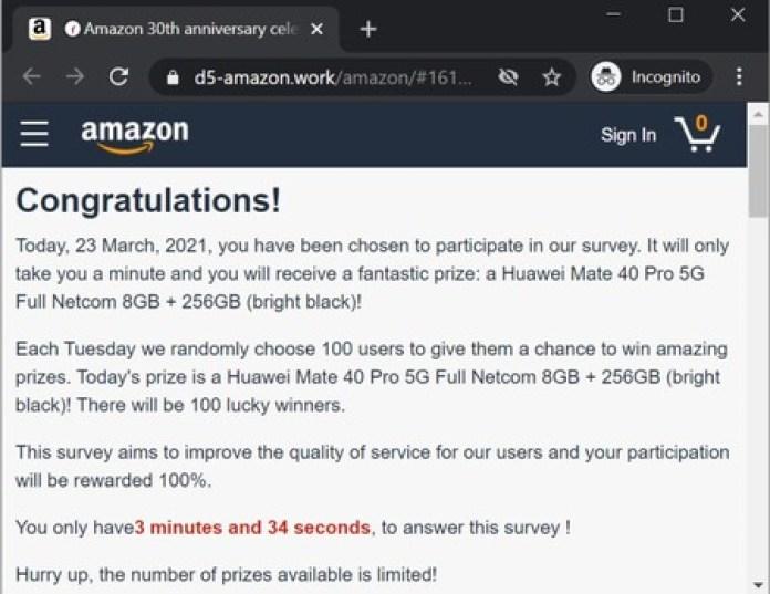 Amazon Estafa Whatsapp Aniversario