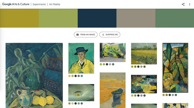 Window Y Google® Art Culture Experiment Art Palette