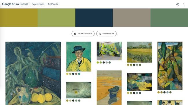 Window Y Google® Art Culture Experiment Art Palette