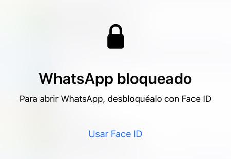 WhatsApp bloqueado Face ID Touch ID