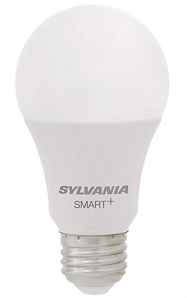 SYLVANIA Smart+ WiFi suave blanco regulable A19 LED foco de luz, CRI 90+, equivalente a 60 W, funciona con Alexa y Google Assistant, 4 unidades