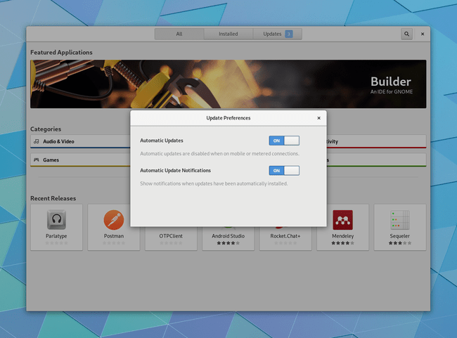Gnome Software Updates