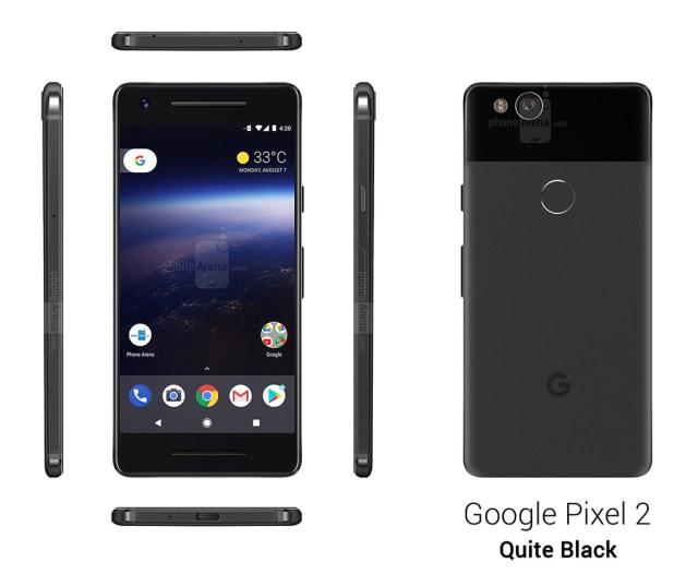 Google Pixel dos Color Options