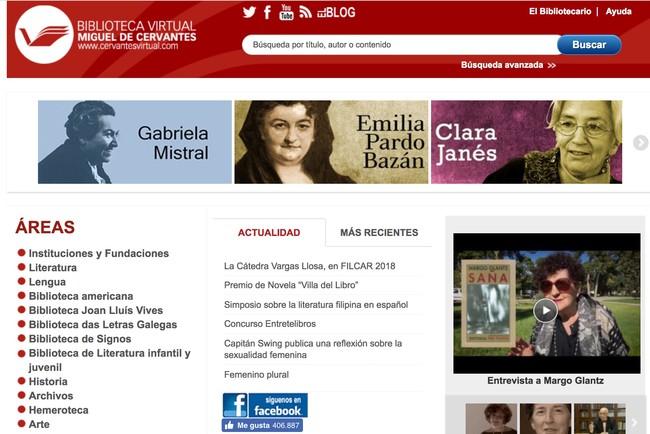 Window Y Biblioteca Virtual Miguel De Cervantes