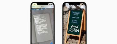 Live Text en iOS 15: cómo usarlo para reconocer textos con la cámara o desde tu galería de fotos