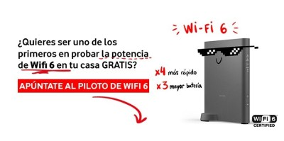 Vodafone comienza una prueba piloto para clientes que quieran probar en casa su nuevo router con WiFi 6