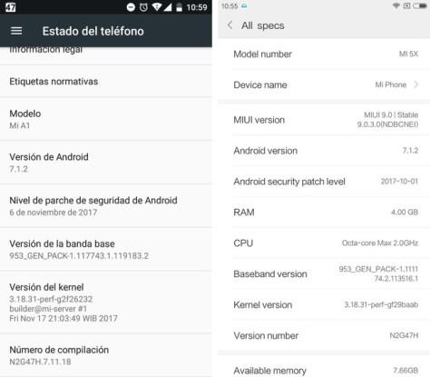 Datos Xiaomi
