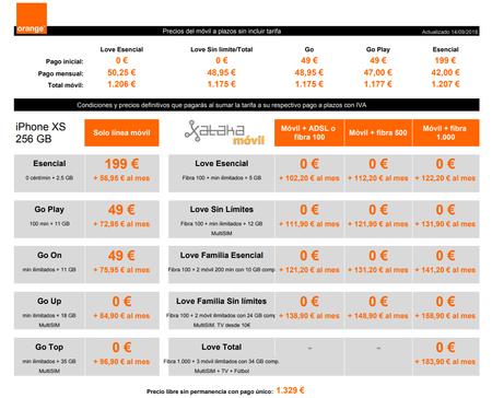 Precios A Plazos Iphone Xs 256 Gb Con Tarifas Orange