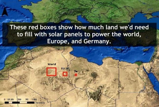 Permalink to Esta caja roja es toda la superficie que necesitamos para producir con paneles solares toda la energía que necesita el mundo