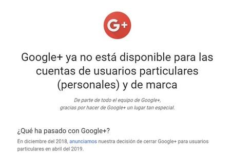 Google Plus End