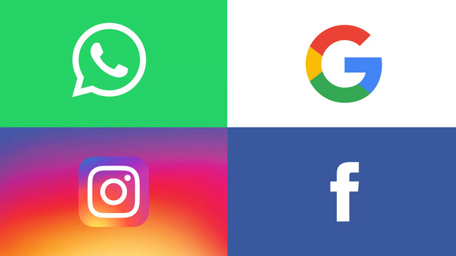 Whatsapp Google Instagram Facebook