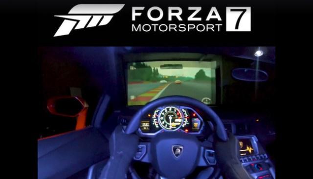 ¿Un Lamborghini Aventador cual controlador para Xbox y Forza 7? Sí, hay gente para todo...