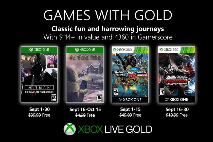 Hitman: The Complete First Season y Tekken Tag Tournament 2 entre los juegos de Games With Gold de septiembre